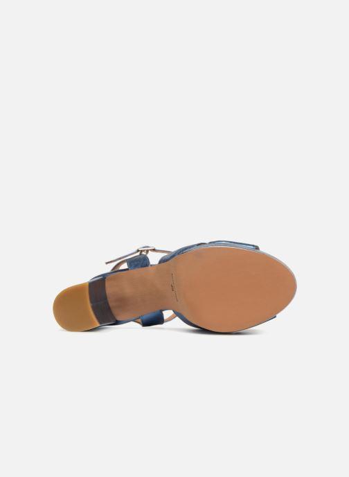 Sandales et nu-pieds Apologie CRUCE Bleu vue haut