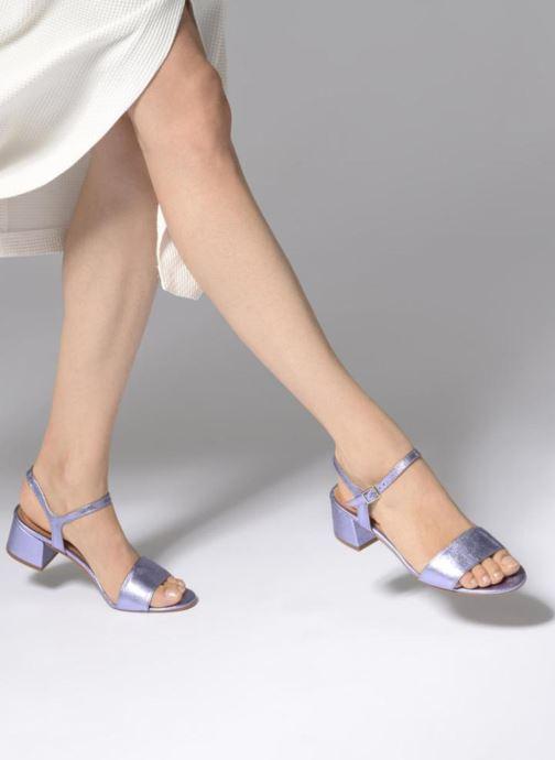 Sandales et nu-pieds Apologie SANDALIA PIERRE Violet vue bas / vue portée sac
