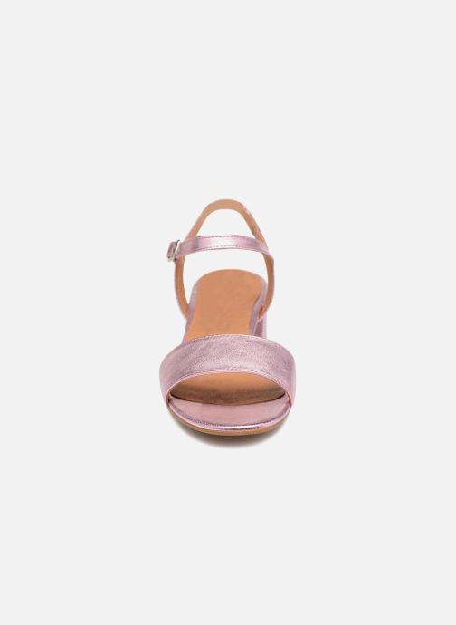 Sandales et nu-pieds Apologie SANDALIA PIERRE Rose vue portées chaussures