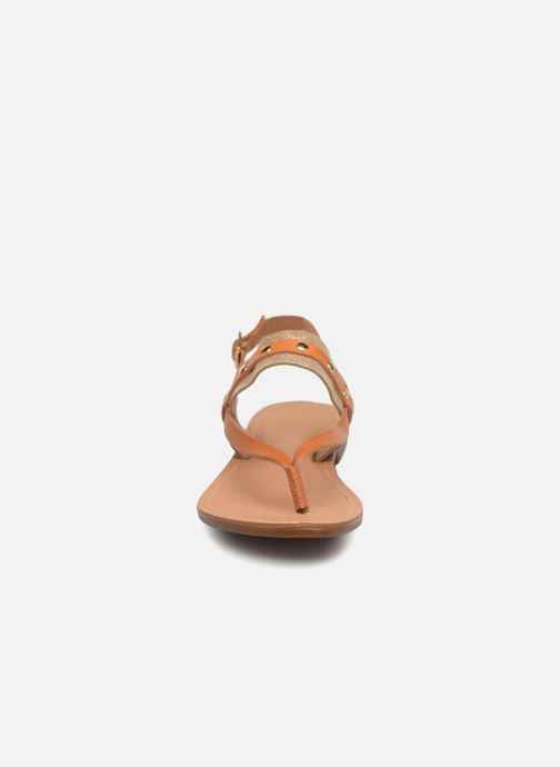 Sandales et nu-pieds Pieces ABELLE LEATHER SANDAL Marron vue portées chaussures