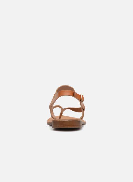 Sandalen Pieces ABELLE LEATHER SANDAL Bruin rechts