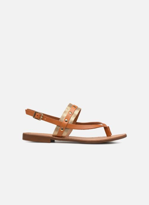 Sandalen Pieces ABELLE LEATHER SANDAL Bruin achterkant