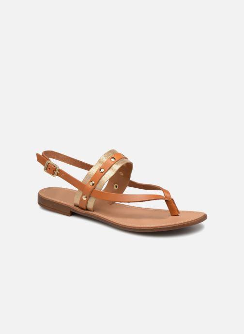 Sandales et nu-pieds Pieces ABELLE LEATHER SANDAL Marron vue détail/paire