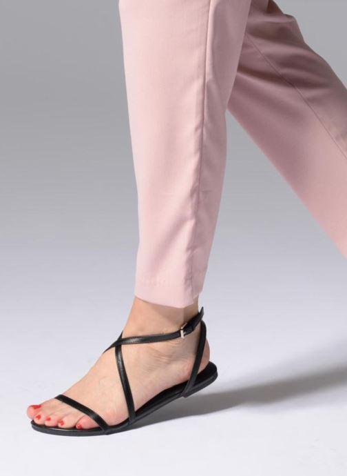 Sandales et nu-pieds Pieces DOCIA STRAP SANDAL Noir vue bas / vue portée sac