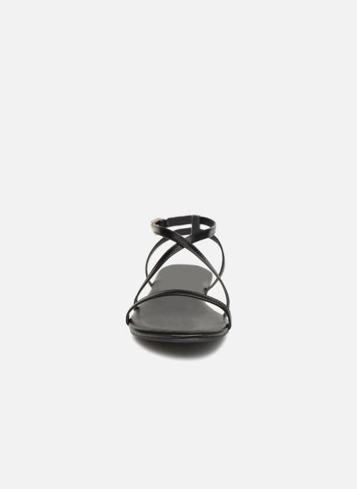 Sandales et nu-pieds Pieces DOCIA STRAP SANDAL Noir vue portées chaussures
