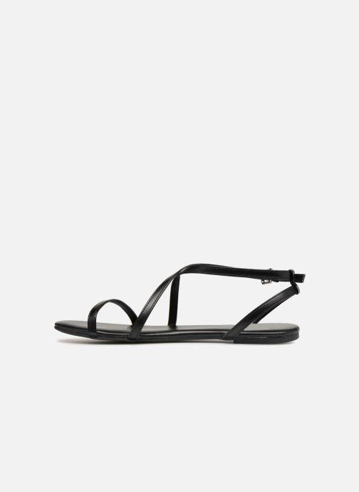 Sandales et nu-pieds Pieces DOCIA STRAP SANDAL Noir vue face