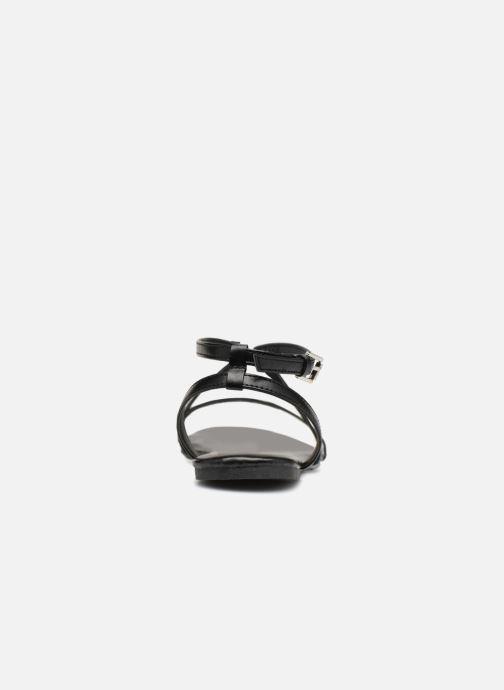 Sandalias Pieces DOCIA STRAP SANDAL Negro vista lateral derecha