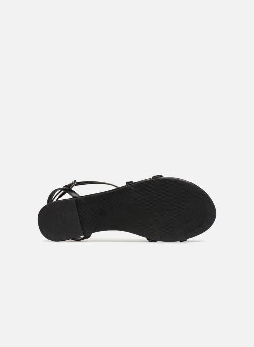 Sandalias Pieces DOCIA STRAP SANDAL Negro vista de arriba
