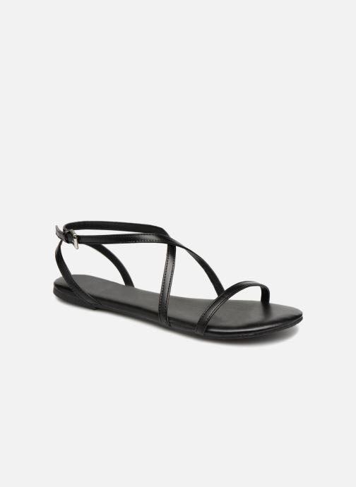 Sandales et nu-pieds Pieces DOCIA STRAP SANDAL Noir vue détail/paire