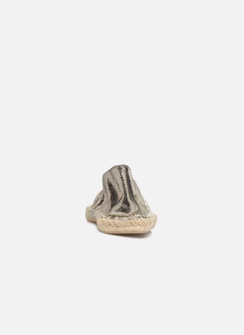 Espadrilles Pieces HAISHA METALLIC ESPERDRILLE Zilver rechts