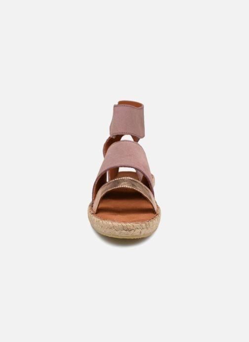 Sandales et nu-pieds Pieces MAISY SUEDE ESPADRILLE Violet vue portées chaussures