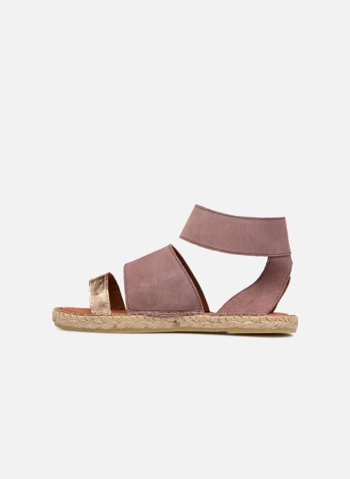 Sandales et nu-pieds Pieces MAISY SUEDE ESPADRILLE Violet vue face