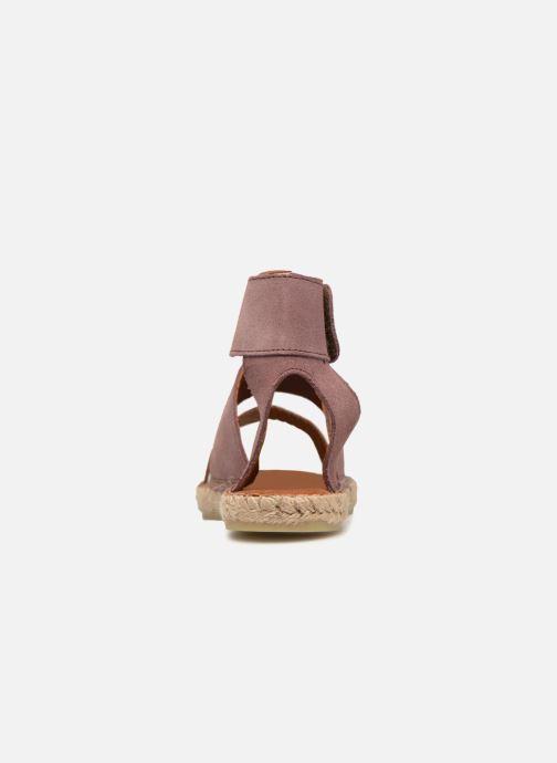 Sandales et nu-pieds Pieces MAISY SUEDE ESPADRILLE Violet vue droite