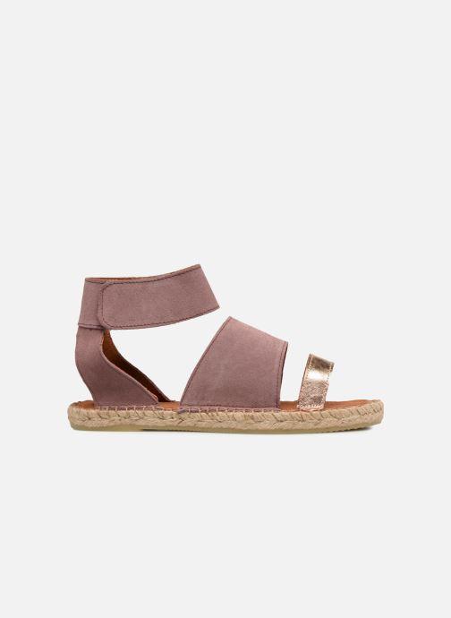 Sandales et nu-pieds Pieces MAISY SUEDE ESPADRILLE Violet vue derrière