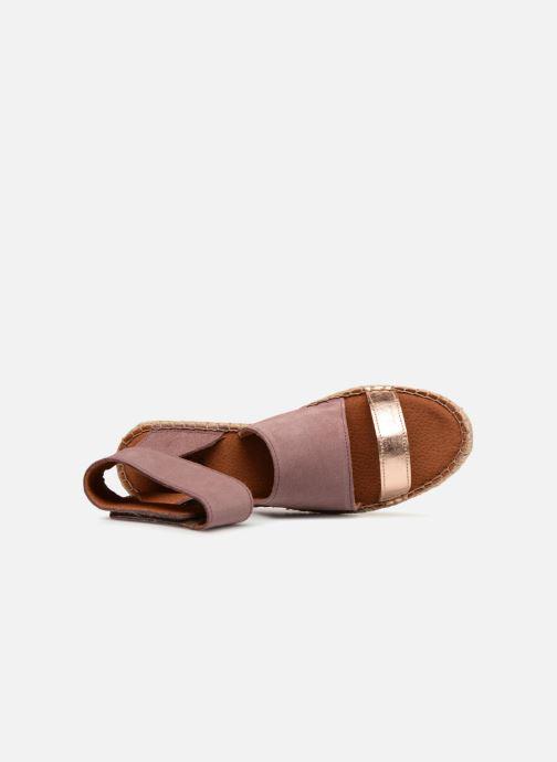Sandalias Pieces MAISY SUEDE ESPADRILLE Violeta      vista lateral izquierda