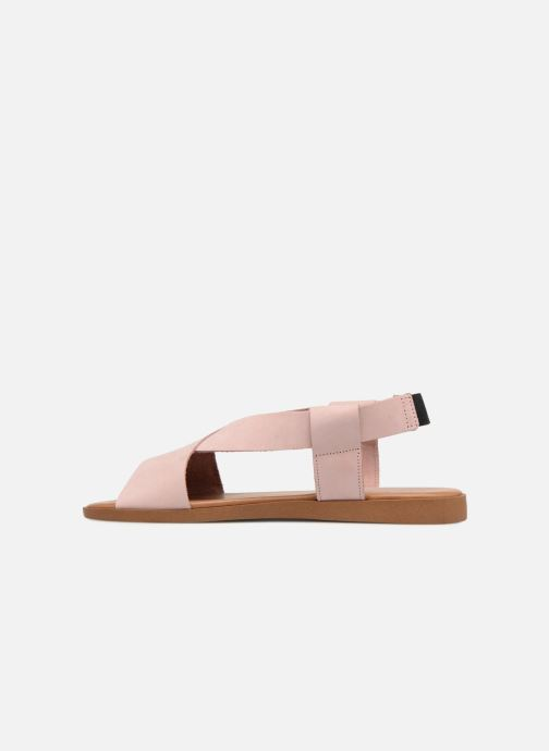 Sandalen Pieces MALU LEATHER SANDAL Roze voorkant