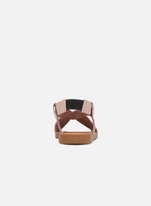 Sandalen Pieces MALU LEATHER SANDAL Roze rechts