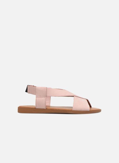 Sandalen Pieces MALU LEATHER SANDAL Roze achterkant
