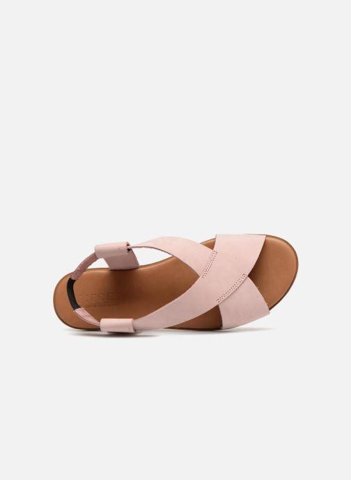 Sandalen Pieces MALU LEATHER SANDAL Roze links