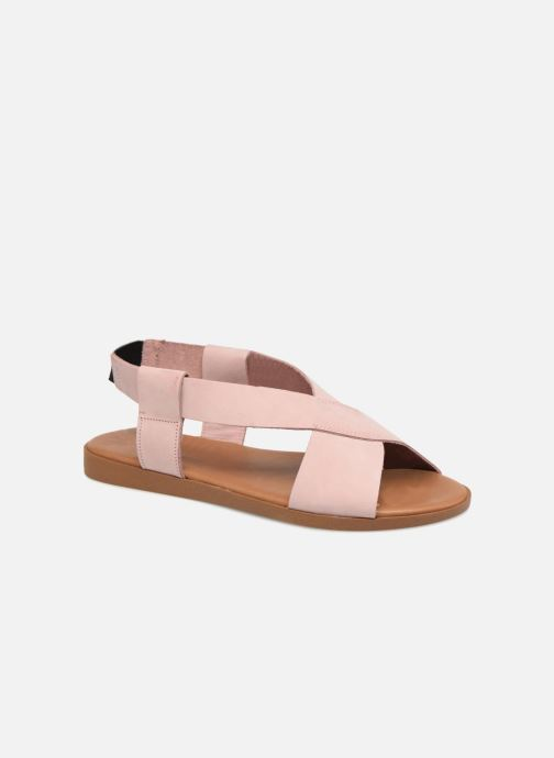 Sandalen Pieces MALU LEATHER SANDAL Roze detail