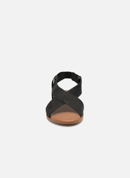Sandalias Pieces MALU LEATHER SANDAL Negro vista del modelo