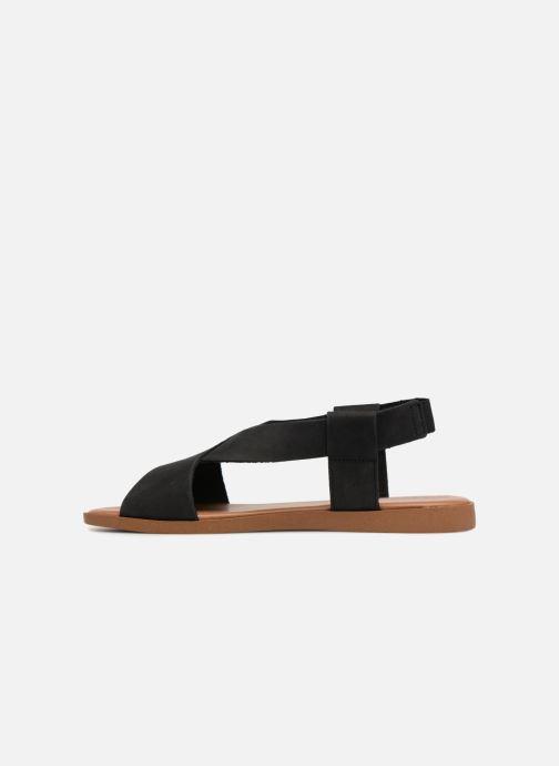 Sandalias Pieces MALU LEATHER SANDAL Negro vista de frente