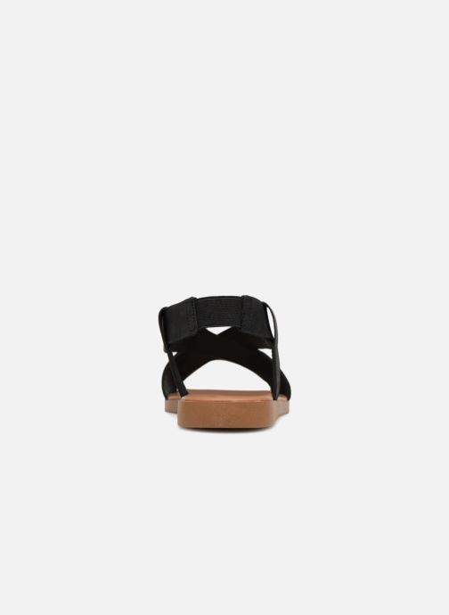 Sandalias Pieces MALU LEATHER SANDAL Negro vista lateral derecha