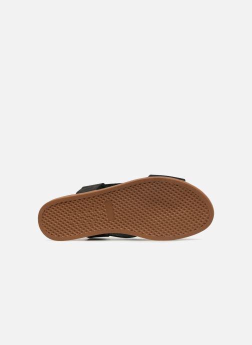 Sandalias Pieces MALU LEATHER SANDAL Negro vista de arriba
