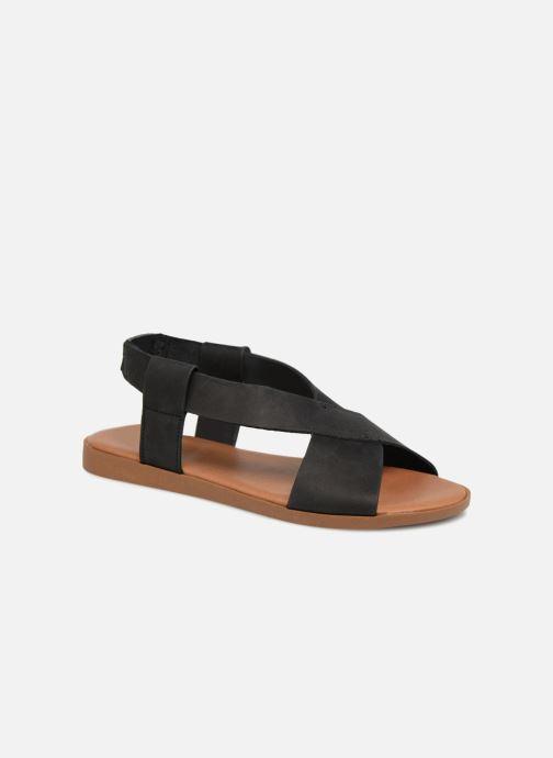 Sandalias Pieces MALU LEATHER SANDAL Negro vista de detalle / par