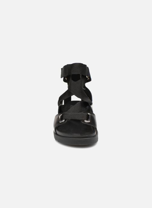 Sandalen Pieces MARIELLA LEATHER SANDAL Zwart model