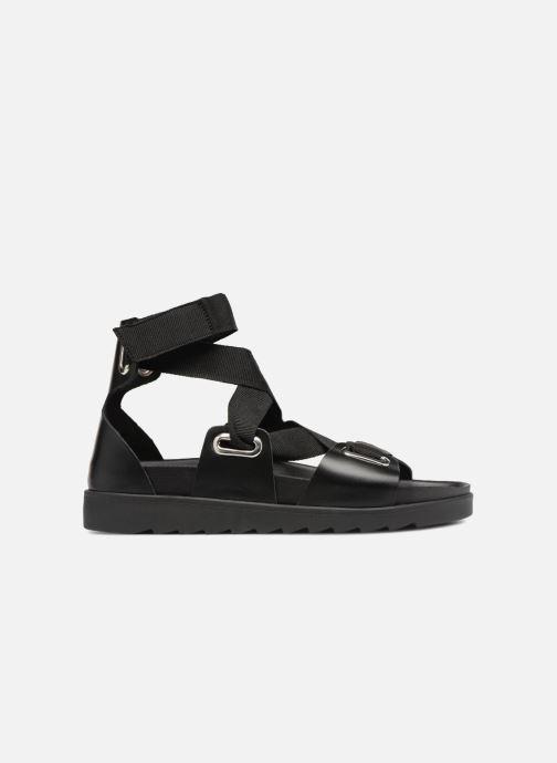 Sandalen Pieces MARIELLA LEATHER SANDAL Zwart achterkant