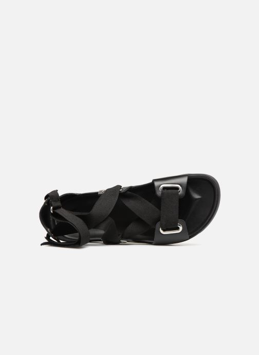 Sandalen Pieces MARIELLA LEATHER SANDAL Zwart links