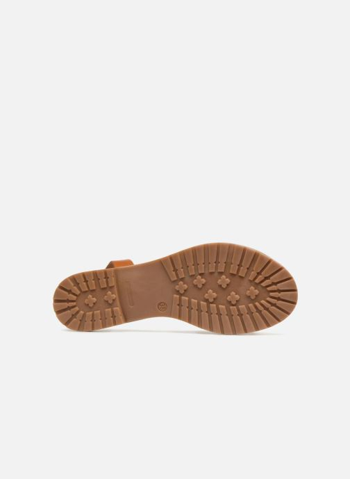 Sandalias Pieces MERCY LEATHER GLITTER SANDAL Oro y bronce vista de arriba