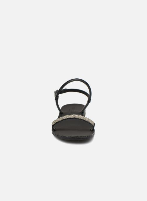 Sandales et nu-pieds Pieces MIYA LEATHER SANDAL Noir vue portées chaussures