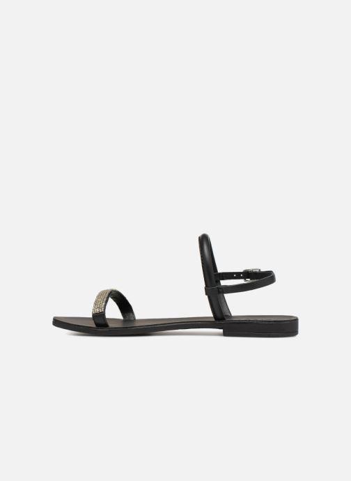 Sandales et nu-pieds Pieces MIYA LEATHER SANDAL Noir vue face