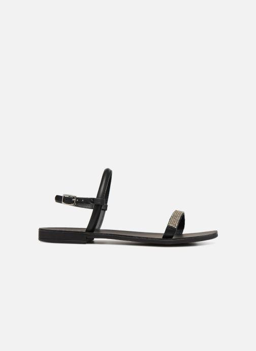 Sandales et nu-pieds Pieces MIYA LEATHER SANDAL Noir vue derrière