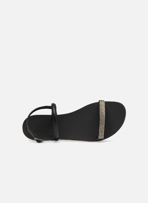 Sandales et nu-pieds Pieces MIYA LEATHER SANDAL Noir vue gauche
