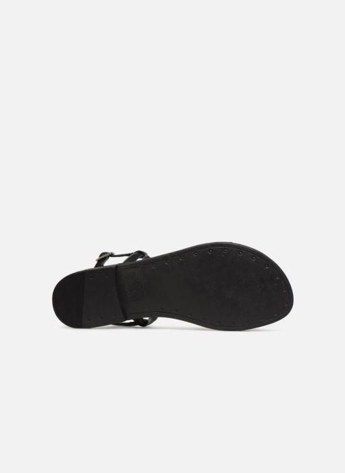 Sandales et nu-pieds Pieces MIYA LEATHER SANDAL Noir vue haut