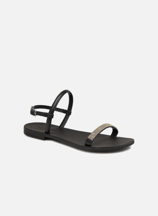 Sandales et nu-pieds Pieces MIYA LEATHER SANDAL Noir vue détail/paire