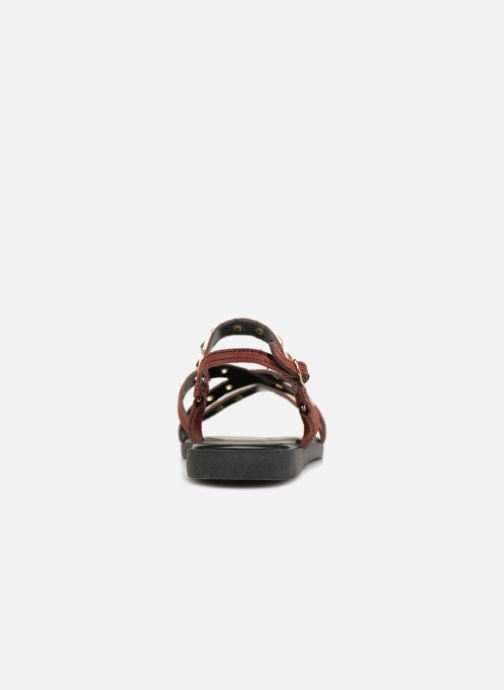 Sandals Pieces NANTALE SUEDE SANDAL Burgundy view from the right
