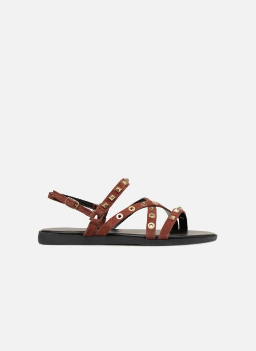 Sandals Pieces NANTALE SUEDE SANDAL Burgundy back view