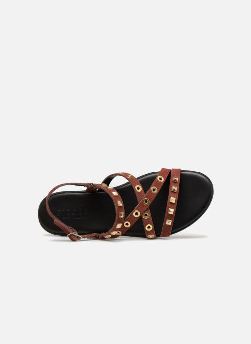 Sandals Pieces NANTALE SUEDE SANDAL Burgundy view from the left