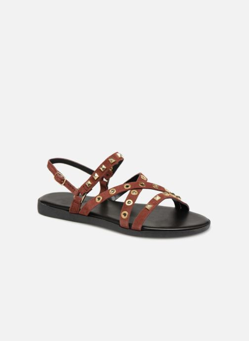 Sandals Pieces NANTALE SUEDE SANDAL Burgundy detailed view/ Pair view