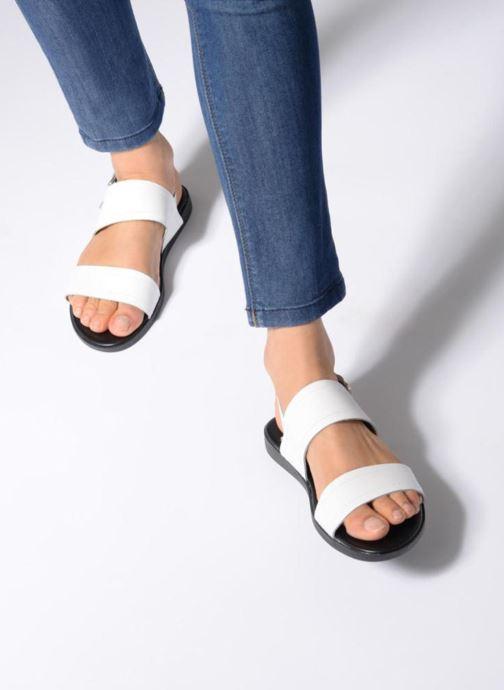 Sandales et nu-pieds Pieces PENELOPE LEATHER SANDAL Blanc vue bas / vue portée sac