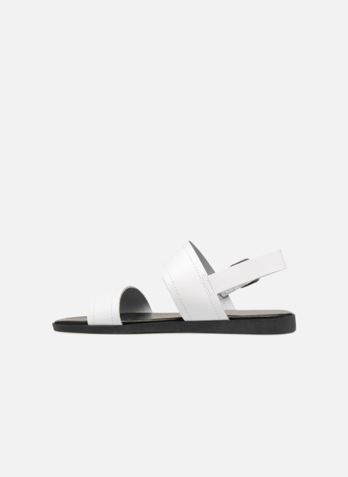 Sandalias Pieces PENELOPE LEATHER SANDAL Blanco vista de frente
