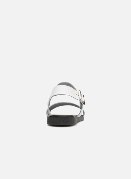 Sandalias Pieces PENELOPE LEATHER SANDAL Blanco vista lateral derecha