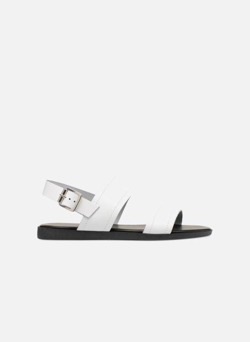 Sandales et nu-pieds Pieces PENELOPE LEATHER SANDAL Blanc vue derrière