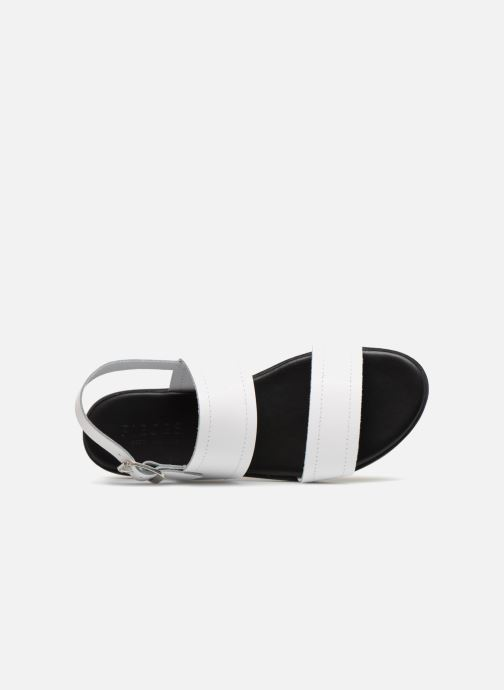 Sandales et nu-pieds Pieces PENELOPE LEATHER SANDAL Blanc vue gauche