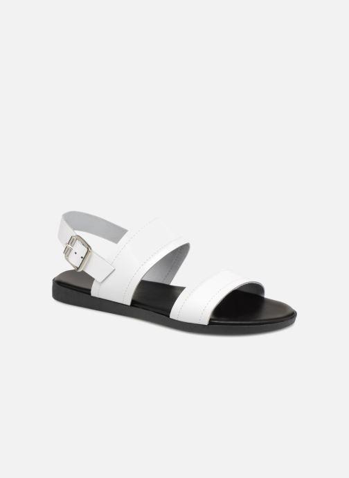 Sandales et nu-pieds Pieces PENELOPE LEATHER SANDAL Blanc vue détail/paire