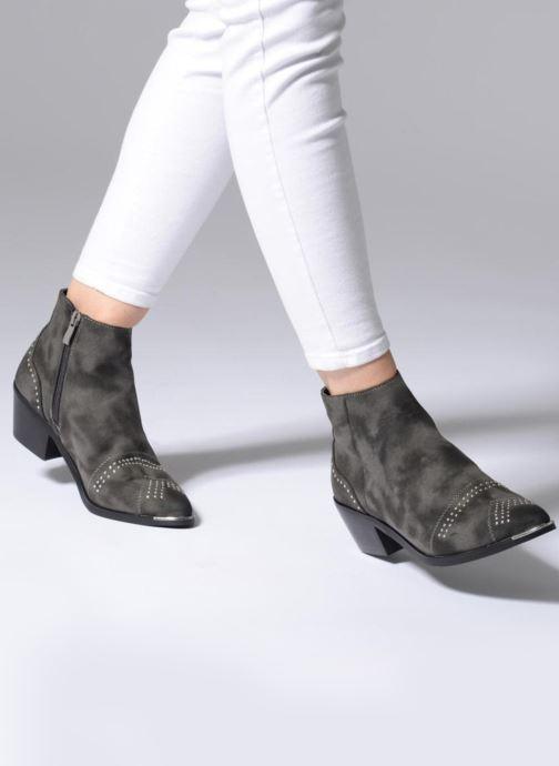 Bottines et boots Pieces PENNIE BOOT RAVEN Gris vue bas / vue portée sac